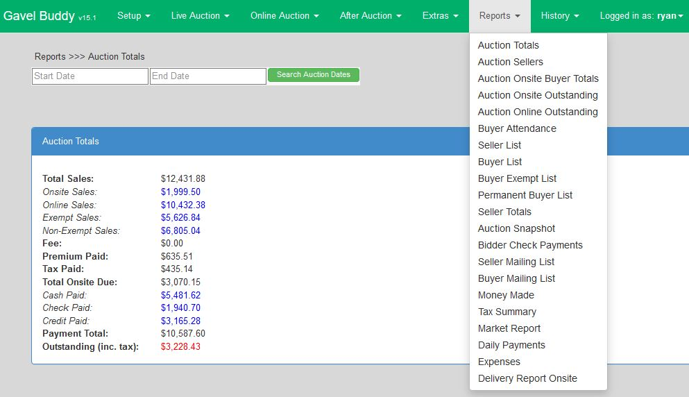 Gavel Buddy Auction Software